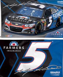 Kasey Kahne #5 NASCAR Deluxe Grommet Flag