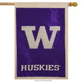 University of Washington Applique NCAA Licensed House Flag