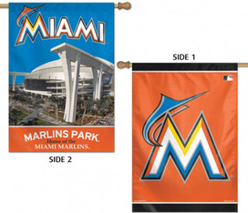 Miami Marlins House Flag MLB Licensed Baseball
