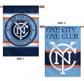 New York City FC Double Sided MLS House Flag