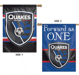 San Jose Quakes Double Sided MLS House Flag
