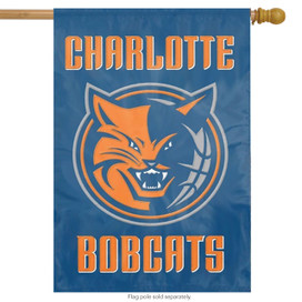 Charlotte Bobcats Applique & Embroidered Banner Flag NBA