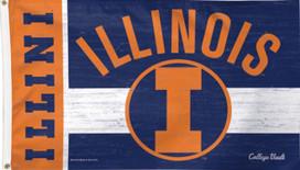 University of Illinois Deluxe Grommet Flag NCAA 3' x 5'