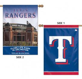 Texas Rangers MLB 2 Sided Vertical House Flag