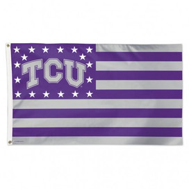 Texas Christian University Stars & Stripes Deluxe Grommet Flag