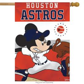 Houston Astros MLB Mickey Mouse Baseball House Flag
