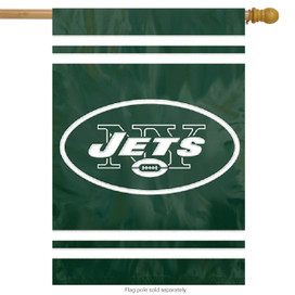 New York Jets Applique Embroidered Banner Flag NFL