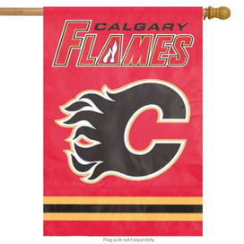 Calgary Flames Applique & Embroidered Flag NHL