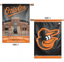 Baltimore Orioles MLB 2 Sided Vertical House Flag