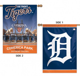Detroit Tigers 2 Sided MLB Vertical House Flag