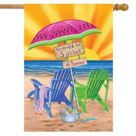 On The Beach Summer House Flag