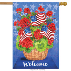 Patriotic Basket Summer House Flag