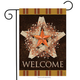 Autumn Barnstar Primitive Garden Flag