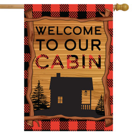 Welcome To Our Cabin Summer House Flag