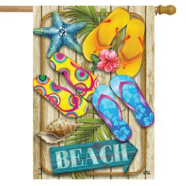 Flip Flops Beach Summer House Flag