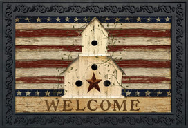 Americana Welcome Patriotic Doormat