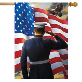 America's Heroes Military House Flag