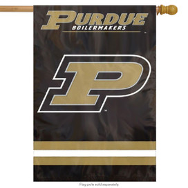 Purdue Boilermakers Applique & Embroidered Banner Flag NCAA