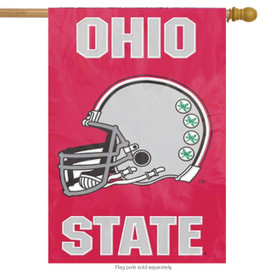 Ohio State University Applique Banner Flag