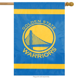 Golden State Warriors Applique House Flag