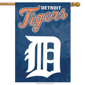 Detroit Tigers Applique & Embroidered Banner Flag MLB