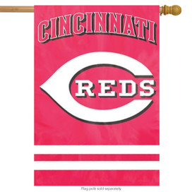 Cincinnati Reds Applique Embroidered Banner Flag MLB