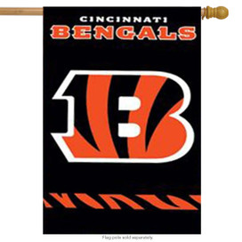 Cincinnati Bengals Applique Embroidered Banner Flag NFL
