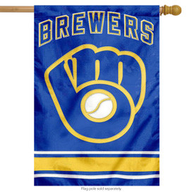 Milwaukee Brewers Applique Embroidered Banner Flag MLB