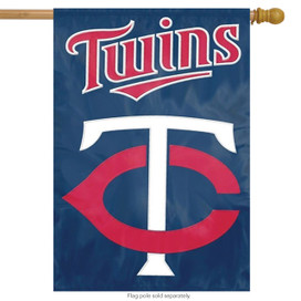 Minnesota Twins Applique & Embroidered Banner Flag MLB