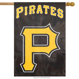 Pittsburgh Pirates Applique Embroidered House Flag