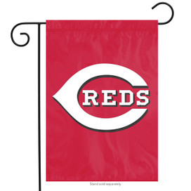 Cincinnati Reds Applique MLB Garden Flag