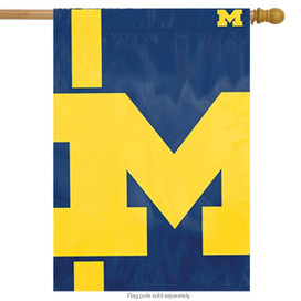 Michigan Wolverines Bold Logo House Flag