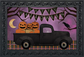Halloween Truck Primitive Doormat