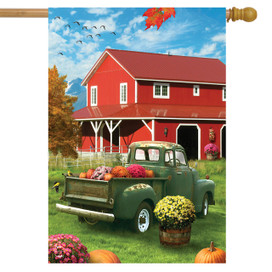 Farm Fresh Mums Autumn House Flag