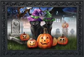 Spooky Kittens Halloween Doormat