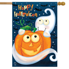 Halloween Haunts Ghost House Flag