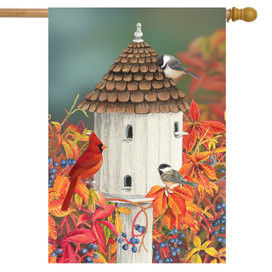 Birds of Autumn House Flag