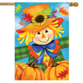 Harvest Celebration Scarecrow Fall House Flag