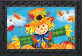 Harvest Celebration Scarecrow Fall Doormat