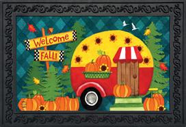 Welcome Fall Camper Primitive Doormat