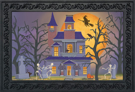 Haunted House Party Halloween Doormat