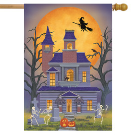 Haunted House Party Halloween House Flag