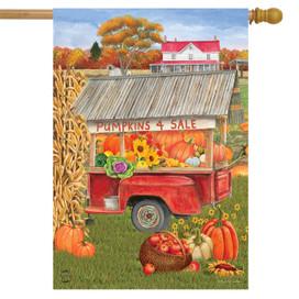 Pumpkins For Sale Autumn House Flag