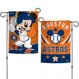 Houston Astros Mickey Mouse Garden Flag