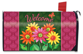 Welcome Daisies Spring Mailbox Cover