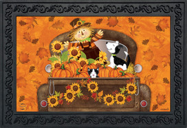 Fall Harvest Pickup Doormat