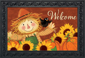 Happy Scarecrow Fall Doormat