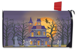 Haunted House Party Halloween Mailbox Cover
