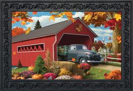 Harvest Bridge Autumn Doormat
