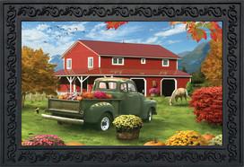 Farm Fresh Mums Autumn Doormat